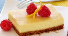 Lemon Cheesecake Bars  Under $0.50 per serving. No springform pan needed for this cheesecake recipe – just use your 13x9-inch pan. For a very special garnish, top cheesecake with Berry Topping (recipe follows).