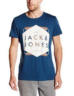 Jack & Jones Men's Short Sleeve T-Shirt, Blue (blue Wing Teal/