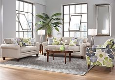 picture of Lilith Pond Taupe 7Pc Classic Living Room  from Living Room Sets Furniture