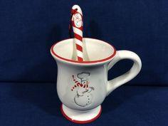 Vintage Snowman Chef Latte Coffee Mug And Spoon by AdoptAKeepsake