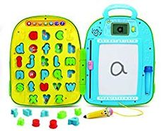 LeapFrog 603403 Mr Pencil's Alphabet Backpack Interactive Learning Toy Educational Baby LCD Screen Letters and Sounds for Toddlers and Kids Boys and Girls from 4 Years, Multi-Colour, One Size Learn To Read Kindergarten, Kindergarten Reading Activities, Teaching Kids, Fun Reading Games, Kids Reading, Interactive Learning, Learning Toys, Alphabet For Toddlers, Kids Boys