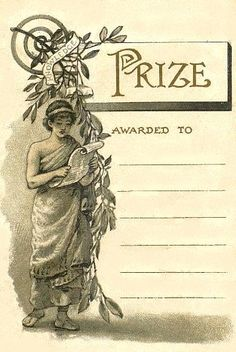Free Printable ~ Vintage School Presentation Award