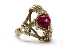 Wire Wrap Romantic Ring with Star Ruby by HyppieChic on Etsy
