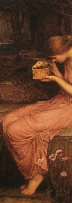 """Psyche Opening the Golden Box"" (detail) by John William Waterhouse 1903"