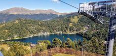 Mit seinen drei Bergseen (Turracher See, Grünsee und Schwarzsee), bewachsen von Österreichs größten zusammenhängenden Zirbenwäldern, umringt von den sanften und doch imposanten Gipfeln finden Naturgenießer und Erholungssuchende sowie Wanderer und Bergsteiger das Ihre. Familien sind auf der Turracher Höhe willkommen und finden eine Vielzahl an Angeboten und Highlights, wie die Alpen-Achterbahn Nocky Flitzer und die Familien-Erlebnis-Welt Nocky'sAlmZeit.  Kärntens Top 10 Ausflugsziele #urlaub Highlights, River, Outdoor, Water Playground, Driving Route Planner, Mountain Climbers, Roller Coaster, Recovery, Outdoors