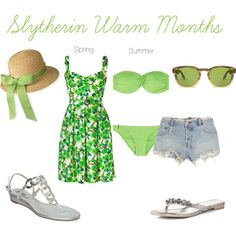 Slytherin Warm Months, created by nearlysamantha on Polyvore