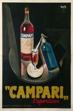 NIZZOLI-CAMPARI-BITTER-LAPERITIVO-GRAND-FORMAT-DAVID-CAMPARI-Cie-MILANO-1927