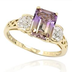Beautiful ametrine ring