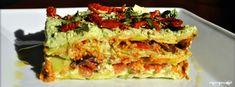 Raw zucchini lasagna