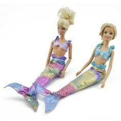 Barbie 2 Trajes De Sirena $4.59 + Envio GRATIS!