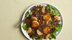 Red Quinoa and Lentils with Fried Goat Cheese, Citrus and Pomegranate - Recipe - FineCooking