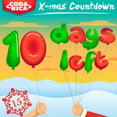 ONLY 10 DAYS LEFT UNTIL CHRISTMAS DAY!! We're so excited, are you? Share to spread the Christmas excitement! #ChristmasManiac #ChristmasCountdown #Cantwait