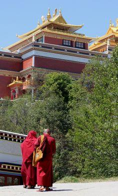 Namobuddha monastery with Monks
