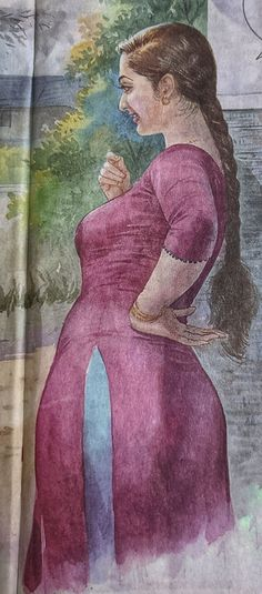 Indian Women Painting, Indian Art Paintings, Old Paintings, Sexy Painting, Painting Of Girl, Architecture Drawing Sketchbooks, Indian Art Gallery, Plus Size Art, Art Painting Gallery