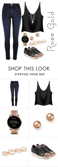 """Untitled #687"" by karlamichell ❤ liked on Polyvore featuring River Island, FOSSIL, Bloomingdale's, Repossi, adidas Originals and Dorothy Perkins"