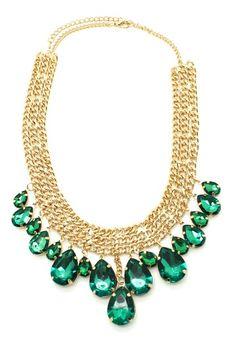 Green Sea Necklace by Geometric Jewelry Statements on @HauteLook