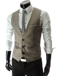 (VE34) TheLees Mens premium layered style slim vest waist coat: Clothing