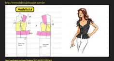Good illustration showing how to draft a gathered peplum
