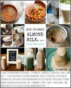 Fast, Easy Almond Milk! Creamy Chocolate   Coconut Cinnamon...