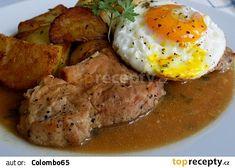 Pork loin on garlic - Vepřové karé na česneku recept - TopRecepty. Slovakian Food, Easy Cooking, Cooking Recipes, Pork Loin, Top Recipes, Food 52, Curry, Food And Drink, Chicken