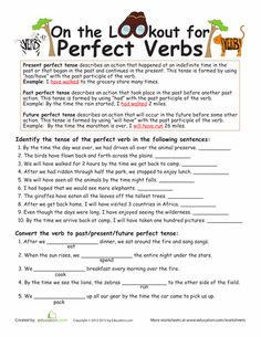 Worksheets: Perfect Verb Tense