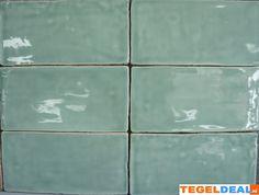 Tegels Limburg - Friese witjes, Jade, 7,5x15 cm á 42,50, handvorm wandtegel - Tegeldeal.nl