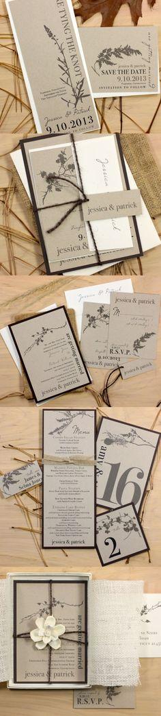 Ivory Romance  Rustic & Chic Save the Dates Elegant by BeaconLane, $100.00