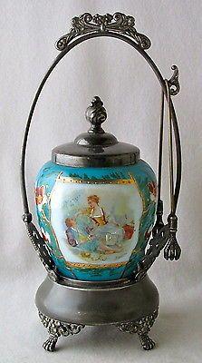 Victorian dec. milk glass pickle castor EAPG...Gorgeous!
