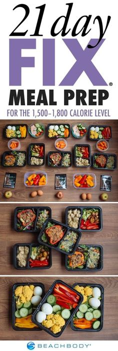 If you've fallen into a meal prep rut, it's time to try something new! Click through for a full 21 Day Fix meal prep menu, complete with tasty recipes, a grocery list, and preparation instructions. // Beachbody // BeachbodyBlog.com // 21 Day Fix Approved // nutrition // clean eating // fitfood http://www.beachbody.com/beachbodyblog/nutrition/meal-prep-21-day-fix-1500-1800-calories?code=SOCIAL_BLOG_PI&utm_cont...