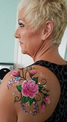 One Stroke roses facepainting