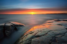 Glow_ by Jarno Lindroos on Western Coast, Timeline Photos, Travel Agency, Cool Places To Visit, Finland, The Good Place, Sunrise, Waterfall, Scenery