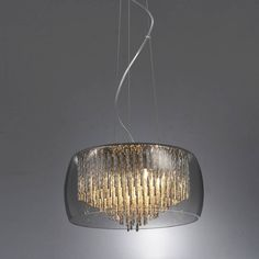 smoked glass shimmering chandelier ceiling light by made with love designs ltd | notonthehighstreet.com