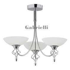 3 Light Ceiling Light Polished Chrome