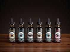 Кухня Пара. Vape bar Branding. E-cigarettes fluid packaging. #unblvbl #vape #vaping #logo #logodesign #branding #cook #beard #packaging #beer #ecigarette #fluid