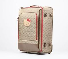 Hello Kitty Rolling Travel Case: Jacquard $160