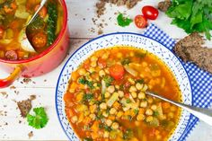 This Italian vegan garbanzo bean soup is perfect for chilly fall days. It's super easy to make and packed with flavor and nutrients.
