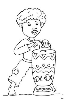 African theme preschool World Music Colouring Pages, Coloring Books, Africa Nature, Africa Craft, Africa Tattoos, Afrique Art, African Art Paintings, Cardboard Box Crafts, African Theme