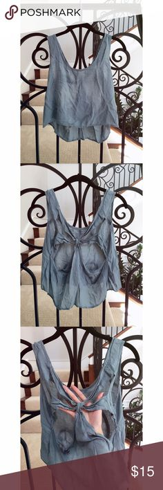 Airy Cutout Crop Light and airy teal cut out back crop top shirt.  100% rayon.  Size medium.  No trades. Macy & Taylor Tops Crop Tops