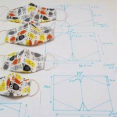 Sewing Hacks, Sewing Crafts, Sewing Projects, Mouth Mask Design, Mouth Mask Fashion, Bear Rug, Card Making Templates, Diy Organisation, Couture Sewing