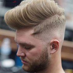 The pompadour is, without a doubt, one of the most popular hairstyles! Find out 57 awesome individualistic modern pompadour hairstyles! Popular Hairstyles, Latest Hairstyles, Cool Hairstyles, Medium Hairstyles, Wedding Hairstyles, Mens Hairstyles Pompadour, Fringe Hairstyles, Modern Pompadour, Men's Pompadour