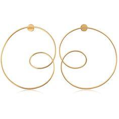 Misho Women Configure Maxi Hoop Earrings ($330) ❤ liked on Polyvore featuring jewelry, earrings, gold and hoop earrings
