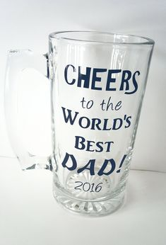 Items similar to Large Custom Beer Mug - Dad Beer Mug - Dad Gift - Father's Day - Personalized - World's Best Dad - Glass Mug on Etsy