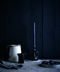 Welcome to the dark side - the wonderful world of dark paint colours Image: Charcoal by Fired Earth