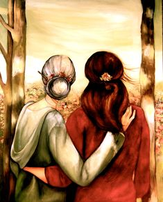 "Mother and Daughter ""Our Walk"" ~ Claudia Tremblay … Mother Daughter Quotes, Mother And Child, My Beautiful Daughter, Daughter Love, Daughters, Claudia Tremblay, Creation Photo, Grands Parents, Illustration Mode"
