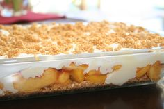 Fresh Peach Dessert....can't wait for peach season!!!
