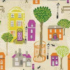Sanderson Jubilee Square wallpaper and fabric