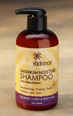 Maximum Moisture Shampoo with Shea Butter: Cleansing that won't strip your hair or your color like most harsh shampoos.  Hemp seed and castor oils married with shea butter and other beneficial extracts reintroduce moisture to your hair and scalp.  Follow with the Maximum Moisture Conditioner for the full benefits and your hair will thank you later. Paraben free, sulfate free, and vegan.