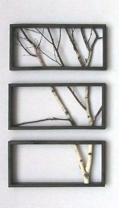 The next time you trim that broken branch, think of what you could do with it!  This is really unique.  Might take some planning so it is flat, but will be worth the effort!.