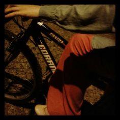 #night #kozlu #sister #bicycle :)))