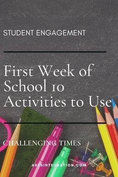 Back-to-school in COVID makes the traditional first week of school activities a little more challenging. Here are 10 activities to use in any situation. Visual Thinking Strategies, Teaching Strategies, Classroom Norms, First Week Activities, Classroom Management Techniques, Arts Integration, Learning Objectives, Classroom Community, One Week